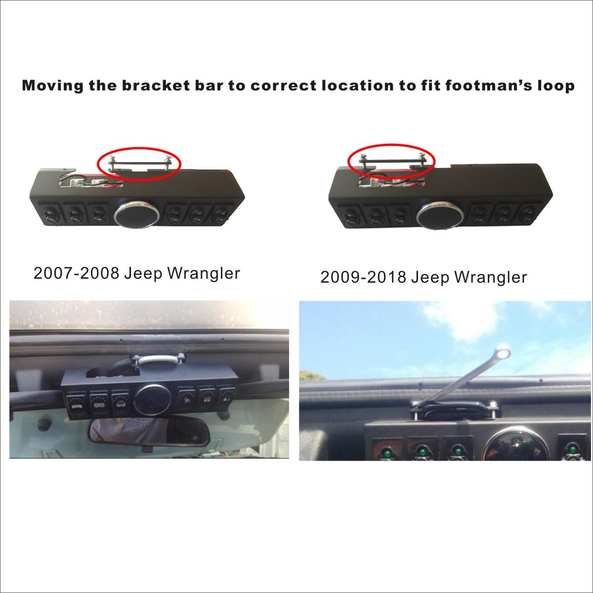 Jeep Wrangler Jk Jku 2007 2018 Overhead 6 Switch Pod Panel With Pillar Gauge Share To